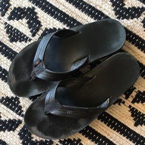 Black Rainbow Sandals